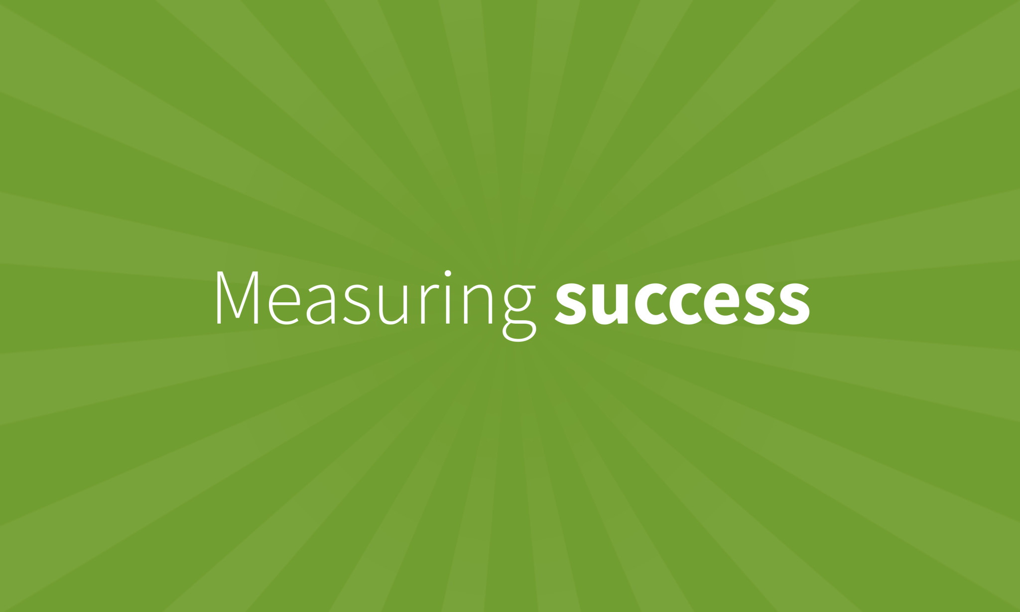 "One Part Podcast episode image for ""Measuring success"""